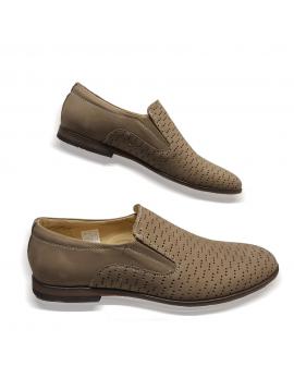 Mokasíny kožená hneda vychadzková pánska obuv LEEX Resident