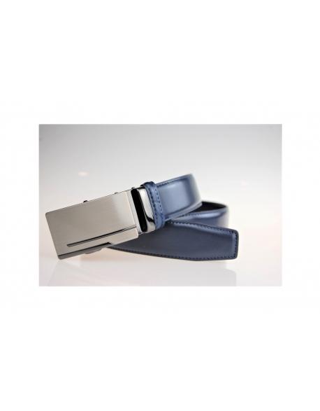 Pansky kožený opasok – modrý