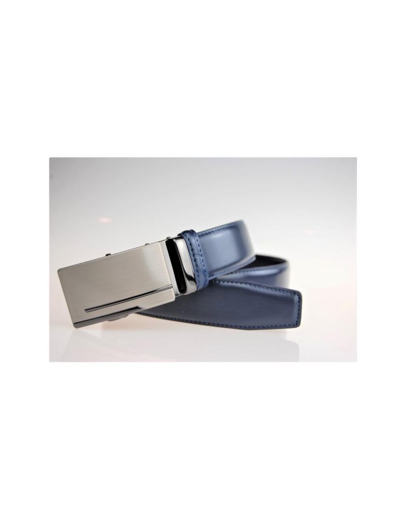 d954c99c8 Pansky kožený opasok modrý - LEEX RESIDENT