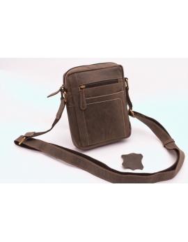 Pánska taška cez rameno crossbody tmavo hnedá