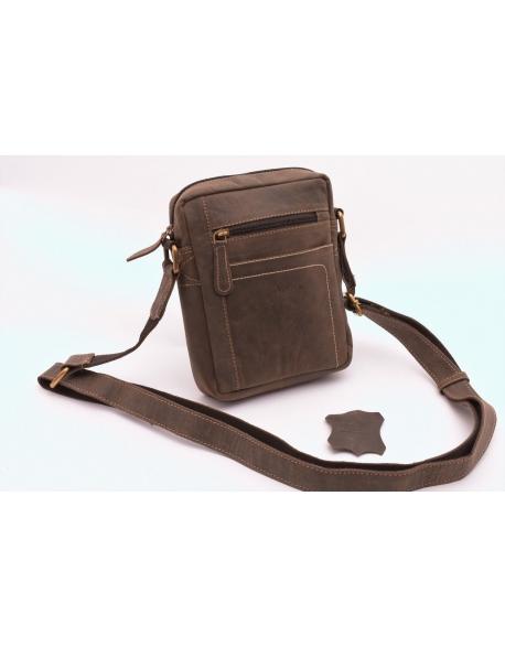 Súkromné: Pánska taška cez rameno crossbody tmavo hnedá