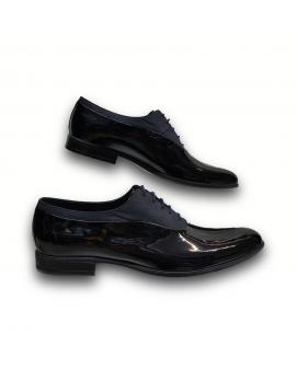 Kožená tmavo modrá elegantná pánska obuv LEEX Resident