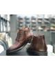 Pánske elegantné kožené topánky zimné hnede