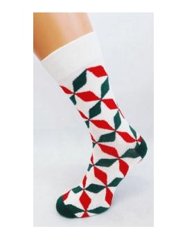 Crazy socks - Smajlíci červený