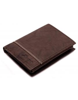 Pánska kožená peňaženka tmavo hneda