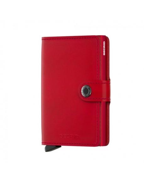 Peňaženka Miniwallet od SECRID - červená, kožená