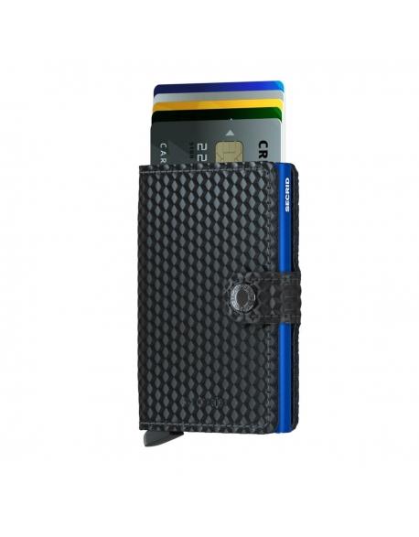 Peňaženka Secrid Miniwallet Cubic Black-Blue