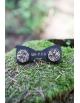 Drevený motýlik a manžety set mm4