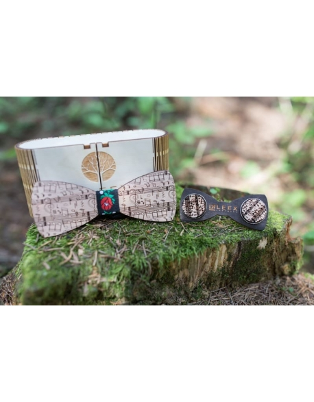 Drevený motýlik a manžety set mm5