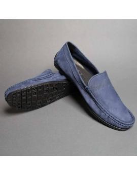 Pánske modré mokasíny