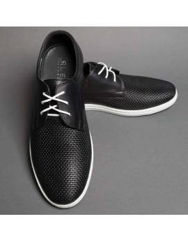 Pánske športové čierne topánky