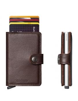 Peňaženka miniwallet dark brown