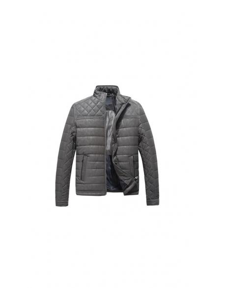 Pánska zimná bunda - šeda Repablo