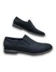Kožená modrá vychadzková pánska obuv LEEX Resident