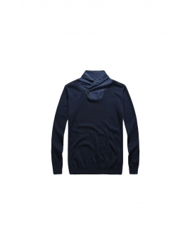 Panský tmavomodrý elegantný sveter