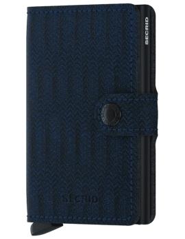 Peňaženka Secrid modra Miniwallet