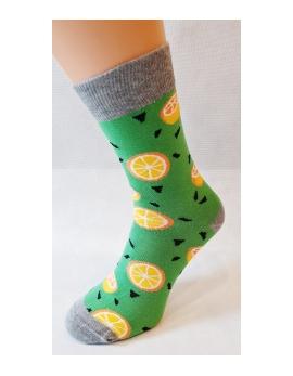 VIANOČNÉ Crazy Socks - POMARANČE