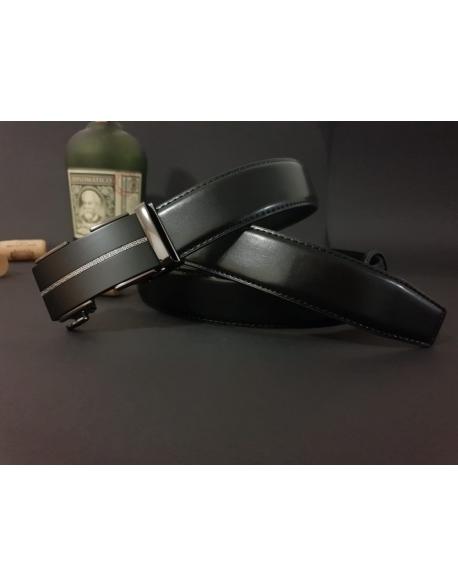 Pánsky kožený opasok s automatickou prackou