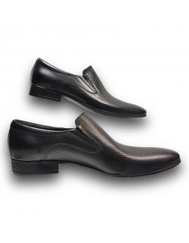 Pánska kožena obuv čierna