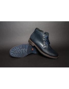 Pánske elegantné kožené topánky zimné hnedé