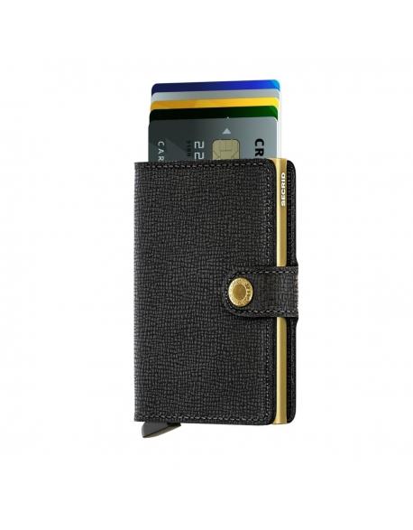 Čierno-zlatá peňaženka Miniwallet