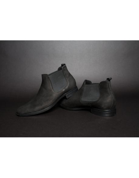 Pánske hnede kožené Chelsea topánky
