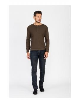 Pánsky olivový sveter Repablo