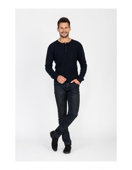 Pánsky tmavomodrý sveter Repablo