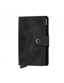 Čierna peňaženka Miniwallet Vintage