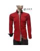 Štýlová červená košeľa pre pánov ADRIANO CALITRI