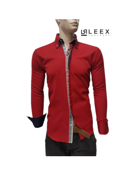 Štýlová červená košeľa ADRIANO CALITRI