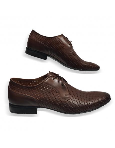 6e6a39d897a6 Kožená hneda elegantná pánska obuv LEEX Resident