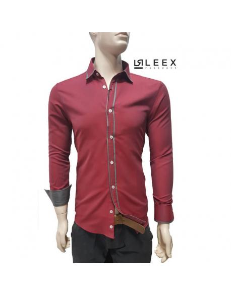 Červená košeľa ADRIANO CALITRI – SLIM FIT