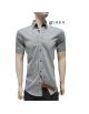 Košeľa s krátkym rukávom sivá