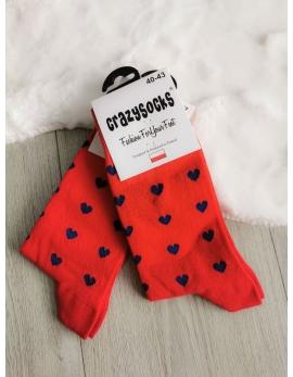 Crazy Socks ponožky - srdiečka