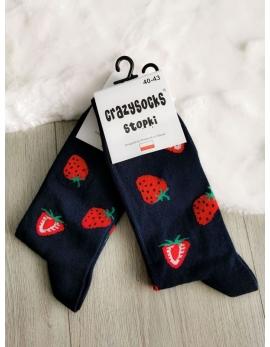 Crazy Socks ponožky - jahody