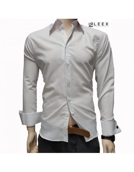 Pánska biela košeľa na manžety