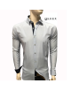 Atraktívna pánska biela pásikavá košeľa