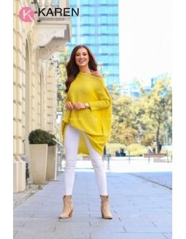 Dámsky žltý sveter ESTRELLA