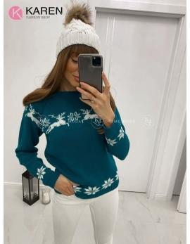 Dámsky vianočný sveter Sobík