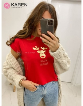 Dámske vianočné tričko Sobík