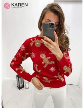 Dámsky vianočný sveter Perník