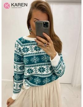 Dámsky vianočný sveter Vločka