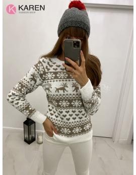 Dámsky vianočný sveter Sobík 2