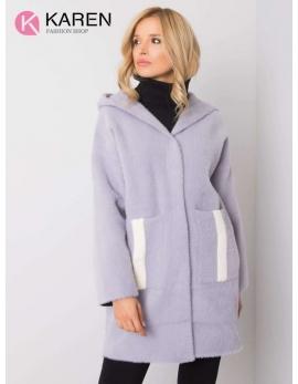 Dámsky fialový kabát alpaka NEXT