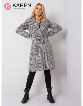 Dámsky kožušinový biely kabát SUSZ