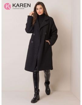 Dámsky čierny kabát DOMI