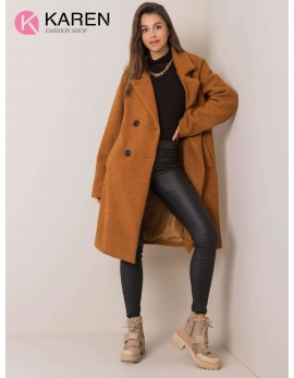 Dámsky hnedý kabát DOMI
