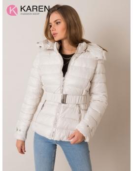 Dámska biela zimná bunda ADELIA