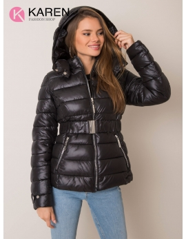 Dámska čierna zimná bunda ADELIA